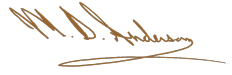 M D Anderson Signature